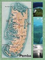 1 Map Of Pemba Island - Tanzania * 1 Ansichtskarte Mit Der Landkarte Der Insel Pemba - Gehört Zu Tansania * - Landkaarten