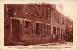 CPA SEIGNELAY - Café Du Commerce Crochot Georges Proprietaire (358178) - Seignelay