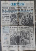 24 H Du Mans 1972.Triomphe De Matra-Simca.La Lola T280 De Bonnier Accidentée. - Journaux - Quotidiens