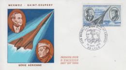 Enveloppe  FDC  1er  Jour   FRANCE     MERMOZ - SAINT  EXUPERY      LYON   1970 - 1970-1979