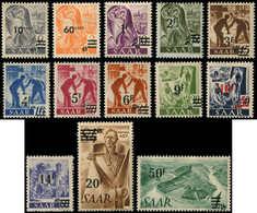 * SARRE 216A/28A : La Série Papier Jaunâtre, TB - 1920-35 Société Des Nations
