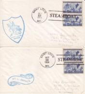 ETATS-UNIS : 1954 - Lot De 2 Lettres - Steamboat Saint Louis Zephyr - Covers & Documents