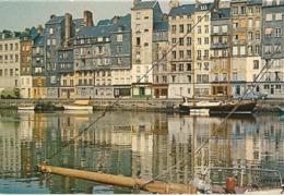 Honfleur- Le Vieux Bassin Et Les Facades Anciennes-cpsm - Honfleur