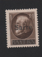 Faux Sarre N° 27 1 M Gomme Charnière - 1920-35 Société Des Nations