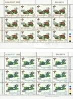 Albania Stamps 2000. UEFA European Euro Football Championship. Sport, Football, Soccer. Sheet MNH. Michel 2761-2762 - Albania