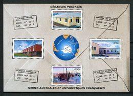 TAAF Bloc  N° 11** ( 395/398 ) Neuf MNH Superbe C 14,40 € Postes Postale Crozet Terre Adélie Amsterdam Bâtiments - Blocs-feuillets