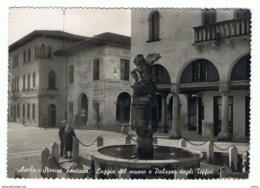 ASOLO:  STORICA  FONTANA  -  LOGGIA  DEL  MUSEO  E  PALAZZO  DEGLI  UFFICI  -  FOTO  -  FG - Treviso