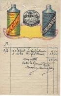 Facture Electra,mecano,cordon Bleu-mourgues Cette Le 6 Janvier 1926 - Droguerie & Parfumerie