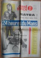 24 H Du Mans 1974. Matra-Simca.Beltoise Et Jarier.Ligier.Les Gulf,De Tomaso. - Desde 1950