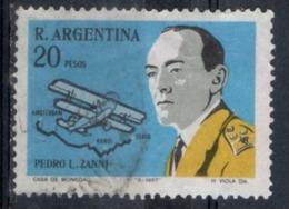 Argentina 1967 - Pedro Zanni Fokker E Rotta Di Volo 1924 Flight Route - Argentine