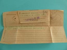 TELEGRAMME PARIS 1917 DE PARIS A PARIS - Non Classés