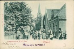 AK Uitgeest Langebuurt En R. C. Kerk (31909) - Pays-Bas