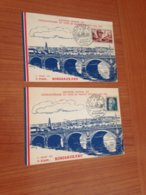 2 Cartes -  Tour De France Souvenir Officiel Cinquantenaire ( 1903/1953)   Port Offert - Cycling