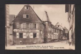 """CPA . Hôtel Restaurant """"A La Ville De Verdun . MOLSHEIM . - Hotels & Restaurants"""