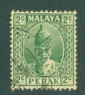 Malaya - Perak: 1938/41   Sultan Iskandar   SG104    2c    Green   Used - Perak