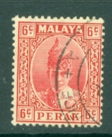 Malaya - Perak: 1938/41   Sultan Iskandar   SG109    6c     Used - Perak