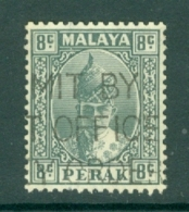 Malaya - Perak: 1938/41   Sultan Iskandar   SG110    8c   Grey    Used - Perak