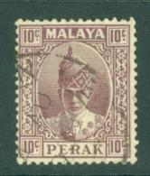 Malaya - Perak: 1938/41   Sultan Iskandar   SG112    10c     Used - Perak