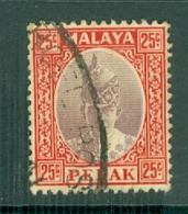 Malaya - Perak: 1938/41   Sultan Iskandar   SG115    25c    Used - Perak