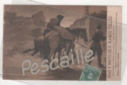 MALAGA - CP PUBLICITAIRE HIJO Y NIETO DE F. RAMOS TELLEZ VINS FINS - DON QUIJOTE - PARTE PRIMERA CAPITULO V - 1906 - Málaga