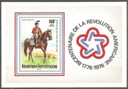 1976Central African Republic412/B10200 Years Of Independence For America 7,50 € - Repubblica Centroafricana