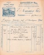 1905 - SORGUES - ABSINTHE - Distillerie Du Midi - E. SOMNIER Fils - Documents Historiques