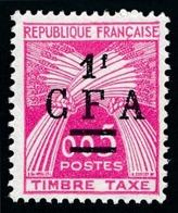 REUNION 1962-64 - Yv. Taxe 45 (=FR TX90 +S.) **   Cote= 3,50 EUR - Type Gerbes. TIMBRE-TAXE 0,05  ..Réf.FRA29080 - Portomarken