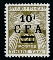 REUNION 1962-64 - Yv. Taxe 46 (=FR TX92 +S.) **   Cote= 6,50 EUR - Type Gerbes. TIMBRE-TAXE 0,20  ..Réf.FRA29081 - Portomarken