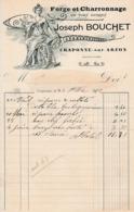 1910 - CRAPONNE-sur-ARZON - Forge & Charronnage - Joseph COUCHET - Documents Historiques