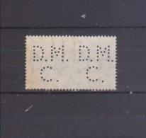 1956 PERFORATI/PERFIN D. M./C.(Dallfor-Nieg& C) Su Europa 1956 Lire 25 - 1946-.. République