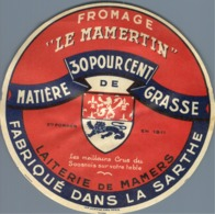 Camembert Le Marmentin Maners Sarthe Ancienne étiquette Fromage Cheese Label - Kaas