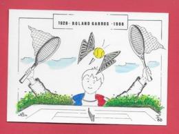 PARIS Roland Carros.Tennis 1988. Illustrateur Jean Luc Perrigault . - Tennis