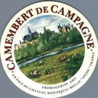 Camembert De Campagne Amy Anjou Ancienne étiquette Fromage Cheese Label - Kaas