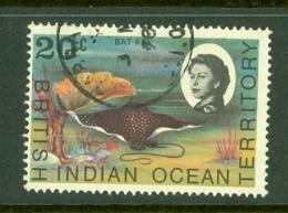 British Indian Territory (BIOT): 1968/70   QE II - Marine Life   SG19    20c   Used - British Indian Ocean Territory (BIOT)