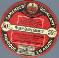 Camembert Royal Amy Anjou Ancienne étiquette Fromage Cheese Label - Kaas