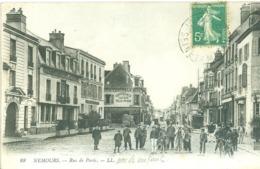 (77) Nemours : Rue De Paris (animée) - Nemours