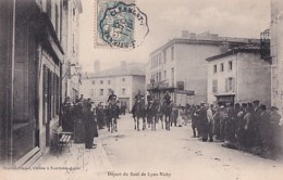 NOIRETABLE         DEPART DU RAID DE LYON VICHY. - Noiretable