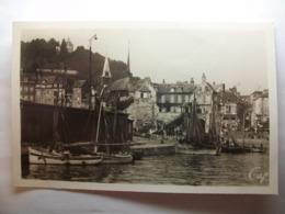 Carte Postale Honfleur (14) Vue Sur Le Port (Petit Format Noir Et Blanc Non Circulée ) - Honfleur