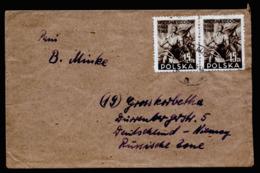 A6322) Polen Poland Brief Czeladz 06.11.49 N. Grosskorbetha / Germany - 1944-.... Republic