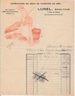 1911 BOULOGNE-sur-MER - LUNEL, ARMATEUR - Expéditions En Gros De Poissons De Mer - Documenti Storici