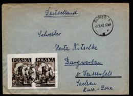 A6323) Polen Poland Brief Zabrze 02.05.47 N. Burgwerben / Germany OS Hindenburg - 1944-.... Republic