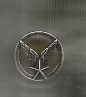 INSIGNE De Col , Armée De L'air ,ailes ,étoile ,  à Vis - Forze Aeree