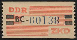 X Dienst-B, Billet Buchstabe BC, Rot/schwarz/kobalt, ** Postfrisch - DDR
