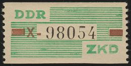 VII Dienst-B, Billet Buchstabe X, Grün/braun/schwarz, ** Postfrisch - DDR