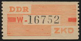 IX Dienst-B, Billet Buchstabe W, Orange/rot/schwarz, ** Postfrisch - DDR