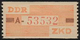 V Dienst-B, Billet Buchstabe A, Orange/karmin/lebhaftrot, ** Postfrisch - DDR
