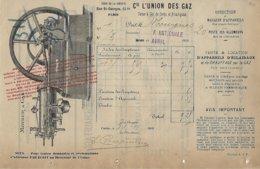 Facture-usine à Gaz De Cette Et Frontignan-1909 - Electricité & Gaz