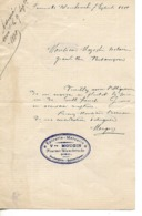Lettre 1889 / 25 FOURNET-BLANCHEROCHE / Vve MOUGIN Epicerie, Mercerie - Francia