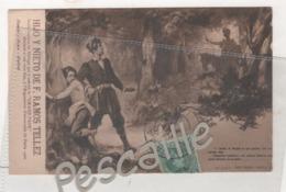 MALAGA - CP PUBLICITAIRE HIJO Y NIETO DE F. RAMOS TELLEZ VINS FINS - DON QUIJOTE - PARTE PRIMERA CAPITULO IV - 1906 - Málaga