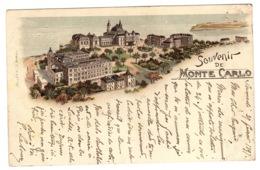 MONTE CARLO - Souvenir De Monte Carlo - Vue Générale - Oblit. 1897 - Ed. Muller & Co, Aarau - Monte-Carlo